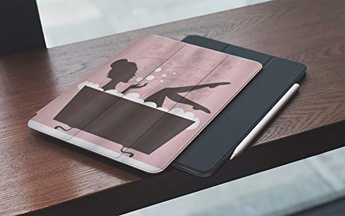 Funda para iPad 10.2 Pulgadas,2019/2020 Modelo, 7ª / 8ª generación,Mujer hermosa en el concepto de tratamiento de relajación de spa de bañera estilo vi Smart Leather Stand Cover with Auto Wake/Sleep