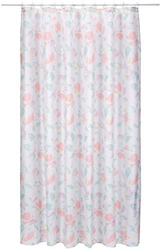 Spirella Cortina Textil Charleston Multicol.180X200 1219291, Blanco, Estandar