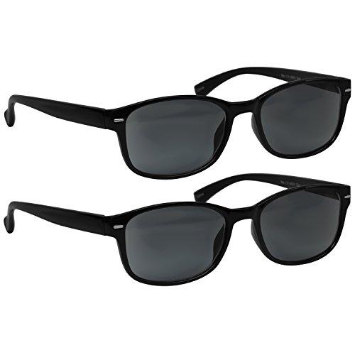Reading Sunglasses - HP9505 - 2 PACK - 2 Sun Black - 1.50