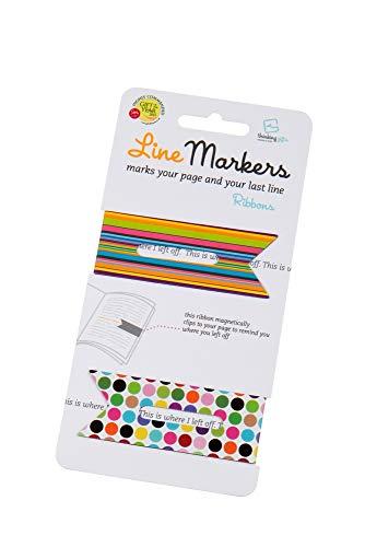 Line Markers Ribbons - Magnetische Lesezeichen: 2er Set Motiv Bänder