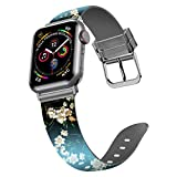 iiteeology Compatible with Apple Watch Band 40mm 38mm, Silicone Waterproof Sport Wristband Replacement Band for iWatch SE Series 6 5 4 3 2 1 Women - Apricot Blossom