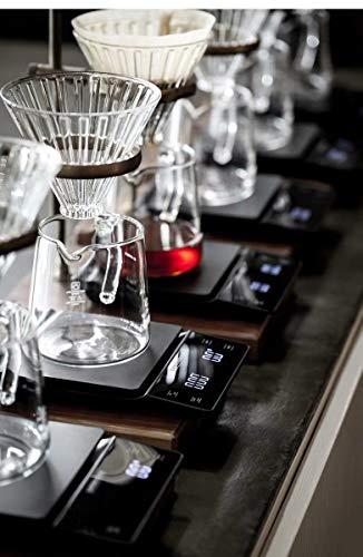 Foto von 3T6B Elektronische Kaffeewaage, Präzisions-Küchenröstwaage 0,1 g Waage Lebensmittelwägung, Digital Kaffee Skala LED-Anzeige 3000 g Waage Kaffee(Enthält 3 Batterien)
