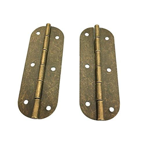 Homyl Mini Bisagras de Latón Antiguo Útil para Hardware de Caja de Muebles de Madera - # 4