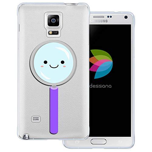 dessana Leuke wetenschap transparante beschermhoes mobiele telefoon case cover tas voor Samsung Galaxy S Note, Samsung Galaxy Note 4, Schattig vergrootglas.