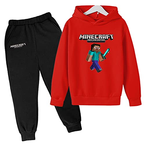 Youth Pullover Hoodies and Sweatpants Suit for Boys Girls 2 Piece Outfit Fashion Sweatshirt Set Jogger Pant Set 5-6 Years Colour 8