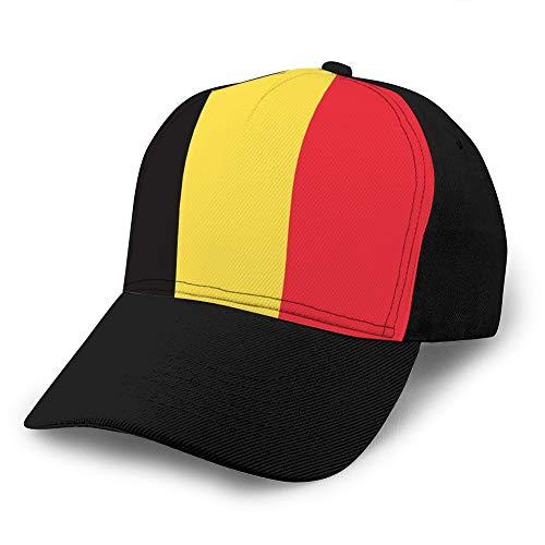 hyg03j4 Unisex Sombrero Plano Ajustable Gorras de béisbol Bandera de Bélgica Gorra de béisbol Unisex