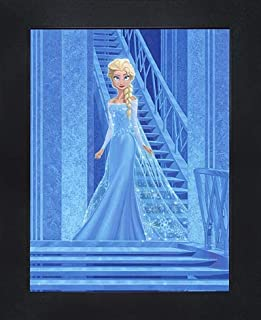 """Disney Licensed Framed 3D Lenticular Poster   Ready to Hang - 14.5"""" x 18.5"""" (600001 - Frozen - Elsa Alone and Free)"""