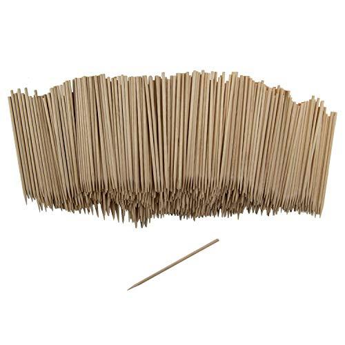 GoBeTree 1000 Brochetas de Madera de 10 cm y Ø 2 mm de diámetro. Pinchos de bambú para Parrillas, barbacoas, Carnes, Verduras. Palos de Madera para Manualidades.