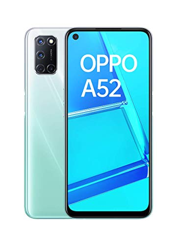 "OPPO A52 - Smartphone de 6.5"" FHD+, 4GB/64GB, Octa-core, cámara trasera 12 + 8 + 2 + 2 MP, cámara frontal 8 MP, 5.000 mAh, Android 10, color Blanco + Micro SD 64GBs"