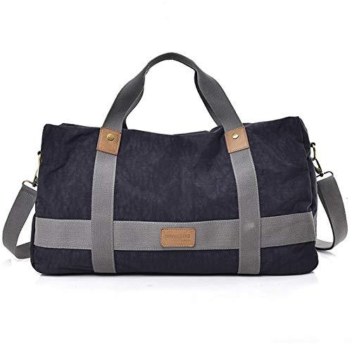Duffle Bag for Travel Ninon, Large Capacity Travel Bag,Leather Travel Tote Duffel Shoulder Handbag Bag, Messenger Bag for Travel Leisure Office Daily School (Color : Black)