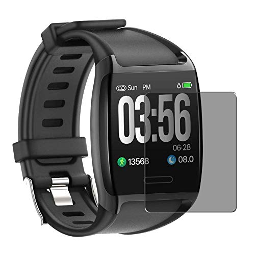 Vaxson Protector de Pantalla de Privacidad, compatible con JPDEAL V8 Smartwatch Smart Watch 1.3' [no vidrio templado] TPU Película Protectora Anti Espía