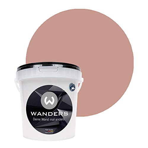 Wanders24® Tafelfarbe (1Liter, Japan Rosé) Blackboard Paint - Tafellack - abwischbare Wandfarbe - in 20 Farbtönen erhältlich - Made in Germany