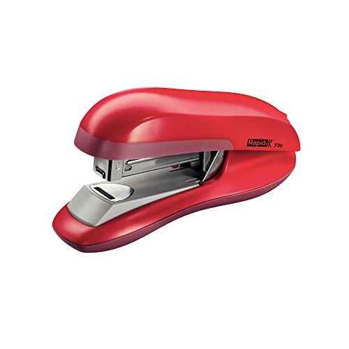 RAPID 23256502 - Grapadora con tecnología Flat Clinch modelo F30 color rojo