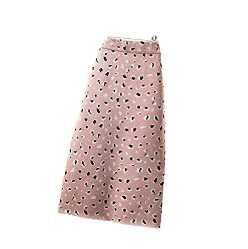 Skirts Nuevo otoño 2020 recto para las mujeres negro moda abrigo cadera slim leopardo punto invierno largo casual retro Split Bottoms