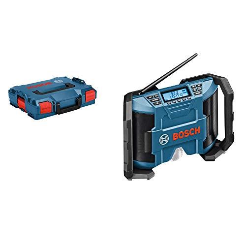 Bosch Professional GPB 12V-10 - Radio a batería para construcción (12 V, doble alimentación, FM/AM, MP3, sin batería, en L-BOXX)