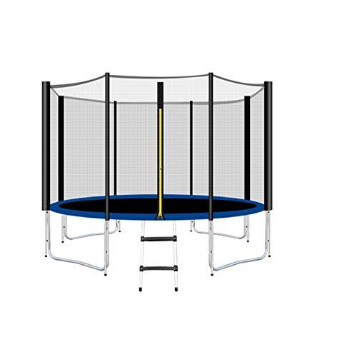 Trampolin Brincolin para Niños y adultos Pequeño parque infantil interior Ronda Trampolín Adulto Trampoline Shell Net Humping Mat y cubierta de primavera Equipo de aptitud Regalo ( Color : 304cm )