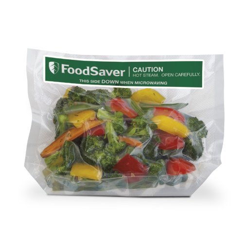 FoodSaver 1Quart Freeze #039n Steam Microwavable SingleCooking Bags 16 Count Clear