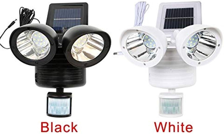 XiuZP 22 LED, Dual Security Detector Sonnenlicht Bewegungsmelder Auenstrahler (Farbe   Weiß)