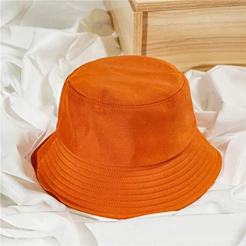 Sombrero de Cubo Plegable de Verano Unisex para Mujer, Gorra de Pesca de algodón con protección Solar al Aire Libre, Gorra de Pesca para Hombre, Sombreros para prevenir el Sol-13Orange-1-Baby