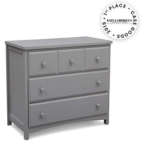 Delta Children 3 Drawer Dresser, Grey