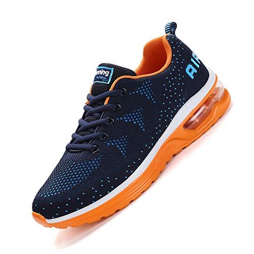 Scarpe da Ginnastica Uomo Donna Sportive Sneakers Running Basse Basket Sport Outdoor Fitness Blue Orange 45 EU