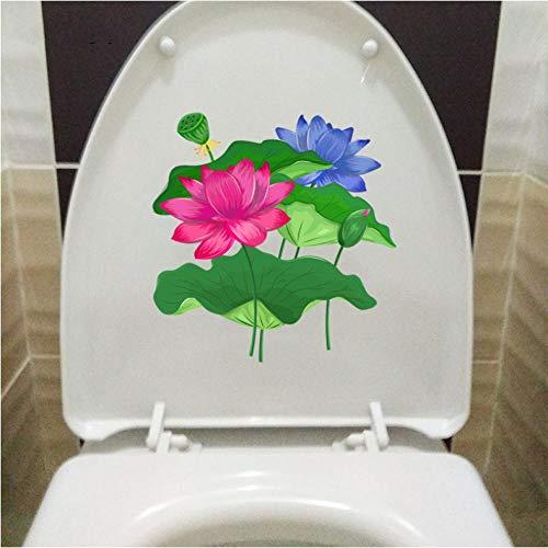 3pcs Lotus Enfants Décoration Murale Toilette Autocollant WC Décor Home Pièces Stickers Muraux Autocollant Mural Artwork