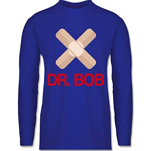 Shirtracer Karneval & Fasching - Dr. Bob Kostüm Pflaster - XL - Royalblau - BCTU005_Herren_Langarm - BCTU005 - Herren Langarmshirt