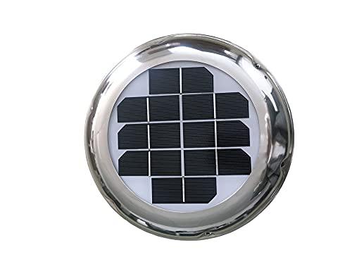 Window Fan 2.5W Solar Roof Ventilator Vent Fan Waterproof Exhaust Intake...
