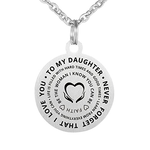 Inspirational Thanksgiving Day Gift to My Daughter Never Forget That I Love You Stainless Steel...