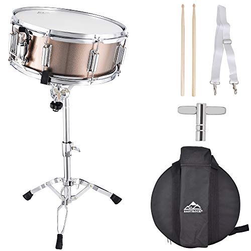 EASTROCK Snare Drum Set 14X5.5inch for Students, Beginners with Gig Bag, Sticks,...
