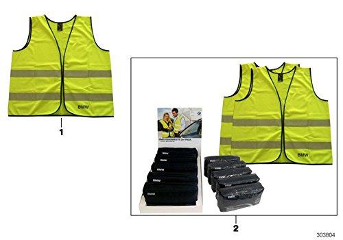 BMW Original Reflektierende Sicherheit Hohe Sichtbarkeit Weste Gelb 2PC Set 82262288693