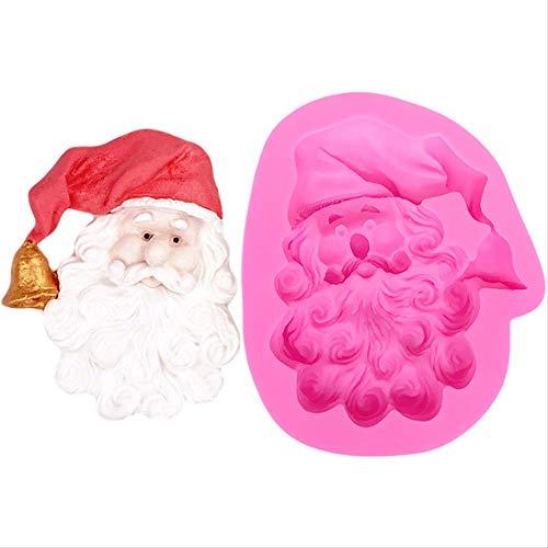 Generies Cucina Torta Di Babbo Natale Stampo In Silicone Decorazione Di Caramelle Forma Di Torta Per Sapone Stampi Di Sapone 3D Decorazioni Per Torte