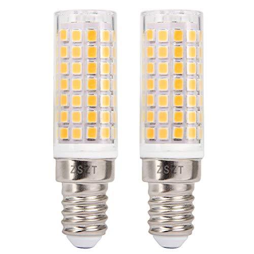 E14 bombilla LED 9W, ZSZT rosca Edison pequeña (SES), equivalente a bombilla halógena de 75W, Blanco cálido 3000K, 2 Piezas