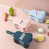 YJYJ 11 Teile/Satz Gemüseschneider Drain Korb Nahrungsmittel Shredder Reibe Küche Schneideutensilienduste (rosa)