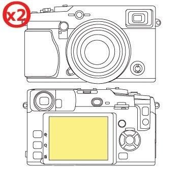 Martin Fields Overlay Plus Screen Protector (FujiFilm X-Pro 1) Twin Pack