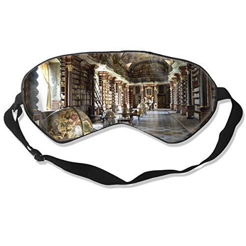 Schlafmaske, Augenbinde, super glatte Augenmaske, Bibliothek, Bücher, Säulen, Deckenmalerei, Skulptur