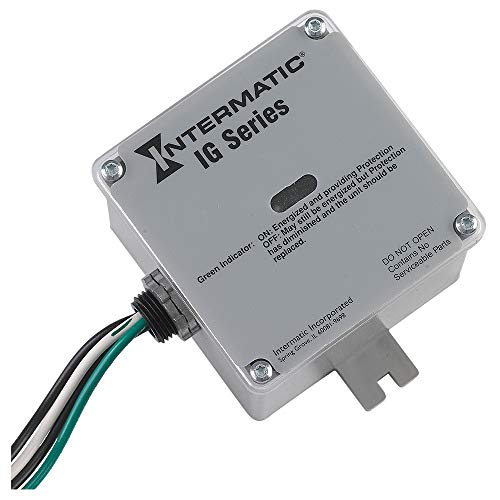 Intermatic IG1240RC3 Whole Home Type-1 or 2 Surge Protection Device,Gray