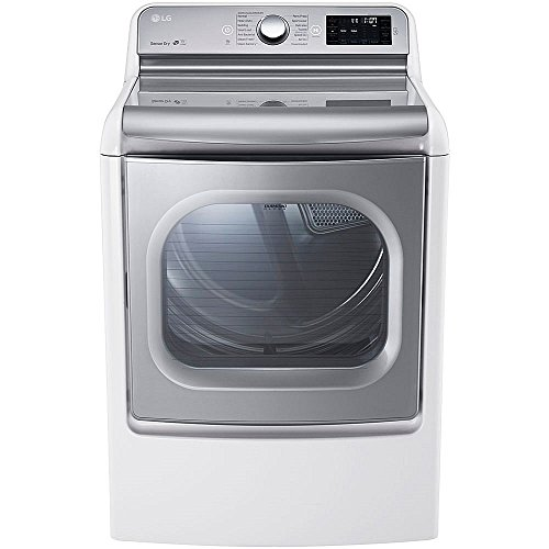 LG DLEX7700WE SteamDryer 9.0 Cu. Ft. White With Steam Cycle Electric Dryer