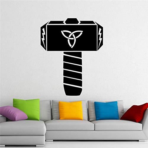 Wand PVC Hammer Held 72x58cm Moderne dekor design benutzerdefinierte pvc muster wandtattoo geschenk aufkleber kunst dekor tapete diy