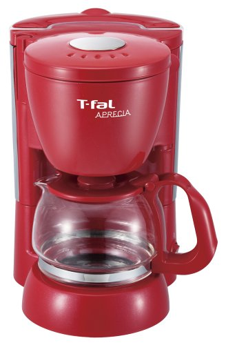 T-fal コーヒーメーカー 「アプレシア」 ペーパーレスフィルター ソリッドレッド CM111570