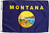 Annin Flagmakers Model 143150 Montana Flag Nylon SolarGuard NYL-Glo, 2x3 ft, 100% Made in USA to Official State Design Specifications