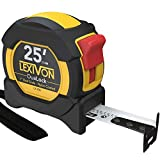 LEXIVON 25Ft/7.5m DuaLock Tape Measure   1-Inch Wide Blade with Nylon Coating,...