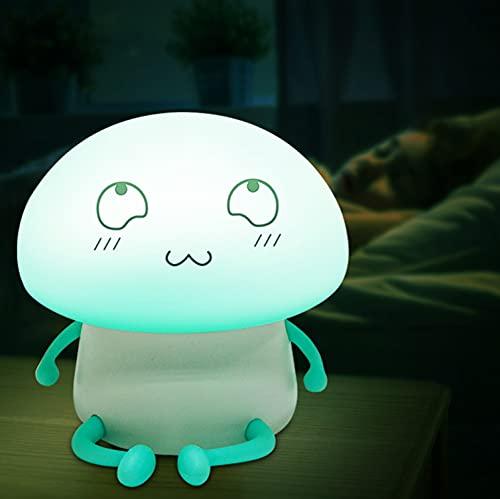 Luce notturna per bambini, in silicone, luce notturna a LED, lampada da comodino, dimmerabile, lampada da allattamento,...