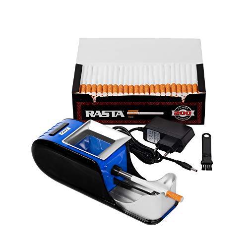 JeVx Maquina Liadora de Tabaco + 200 Tubos con Filtro RASTA -...