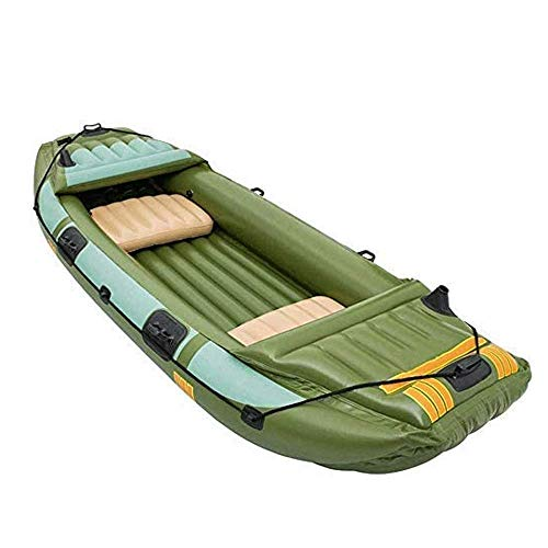 Kajak, DREI Dicke Fischerboot Schlauchboot Schlauchboot Leder Kajak Kajak Hovercraft, Load Bearing 300KG ZHANGKANG
