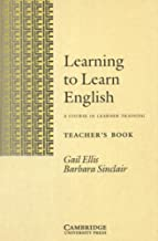Learning to Learn English Teacher's book: A Course in Learner Training