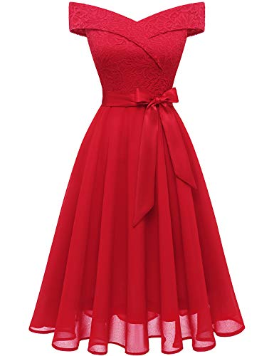 Off the Shoulder Lace & Chiffon Wedding Dress