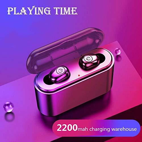 Hanbaili Mini audífonos Bluetooth con micrófono, Auriculares inalámbricos Deportivos biauriculares in-Ear Auriculares Invisibles para iPhone y teléfonos Inteligentes Android
