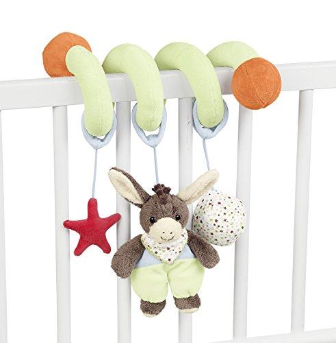 Sterntaler Spielzeugspirale, Esel Emmi, Inklusive Rassel und Knisterpapier, Alter: Für Babys ab der Geburt, Rosa/Rot