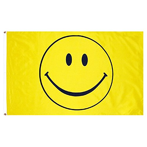naicasy 90* 150cm Smiley Flagge 1Pack